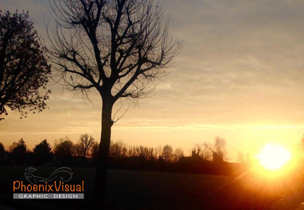 Alba tramonto PhoenixVisual Graphic Design Vicenza