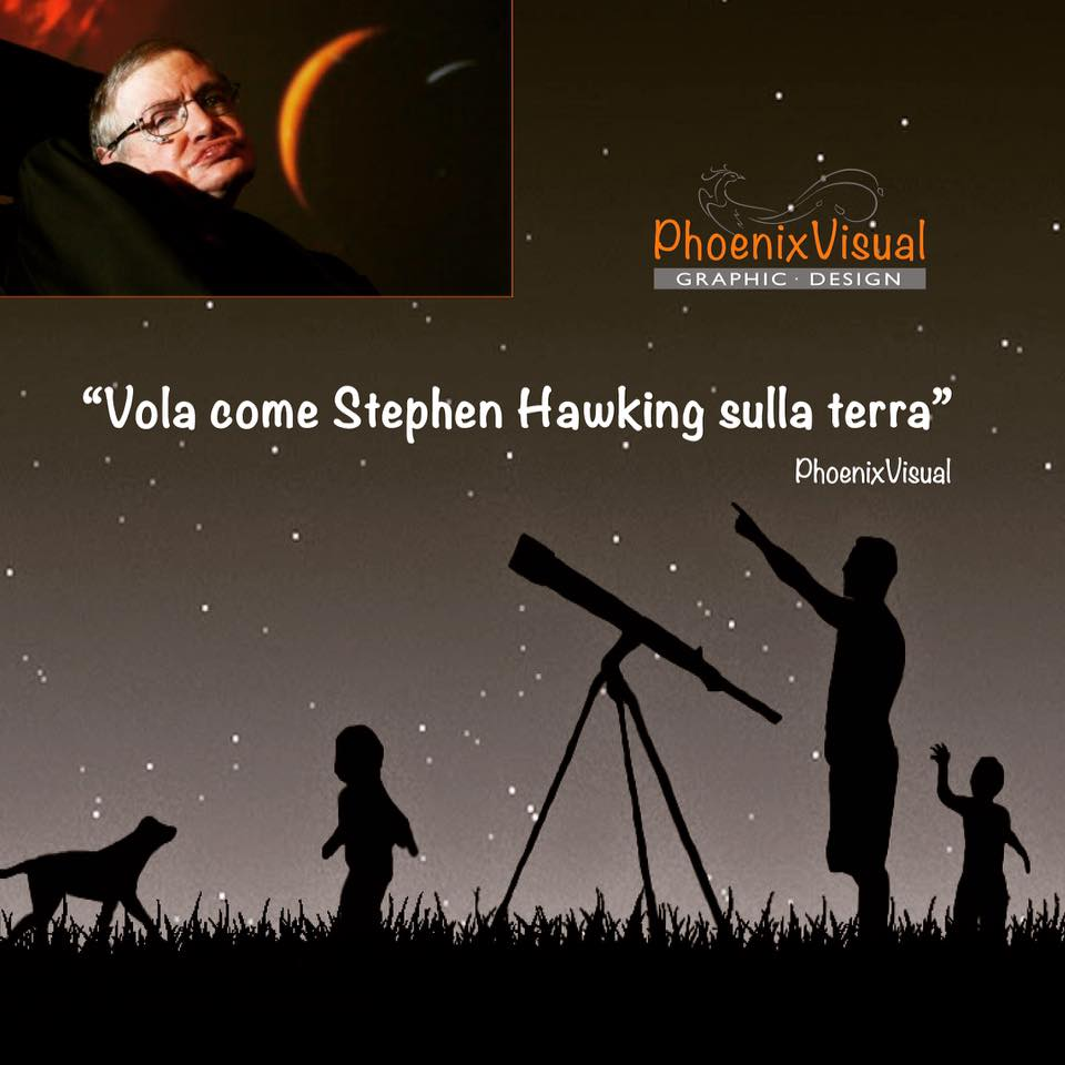 Stephen Hawking PhoenixVisual Graphic Design Vicenza