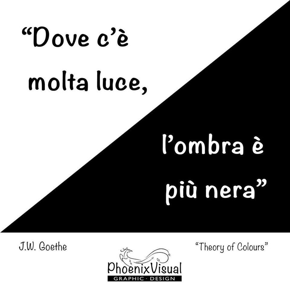 Goethe Teoria del colore PhoenixVisual Graphic Design Vicenza