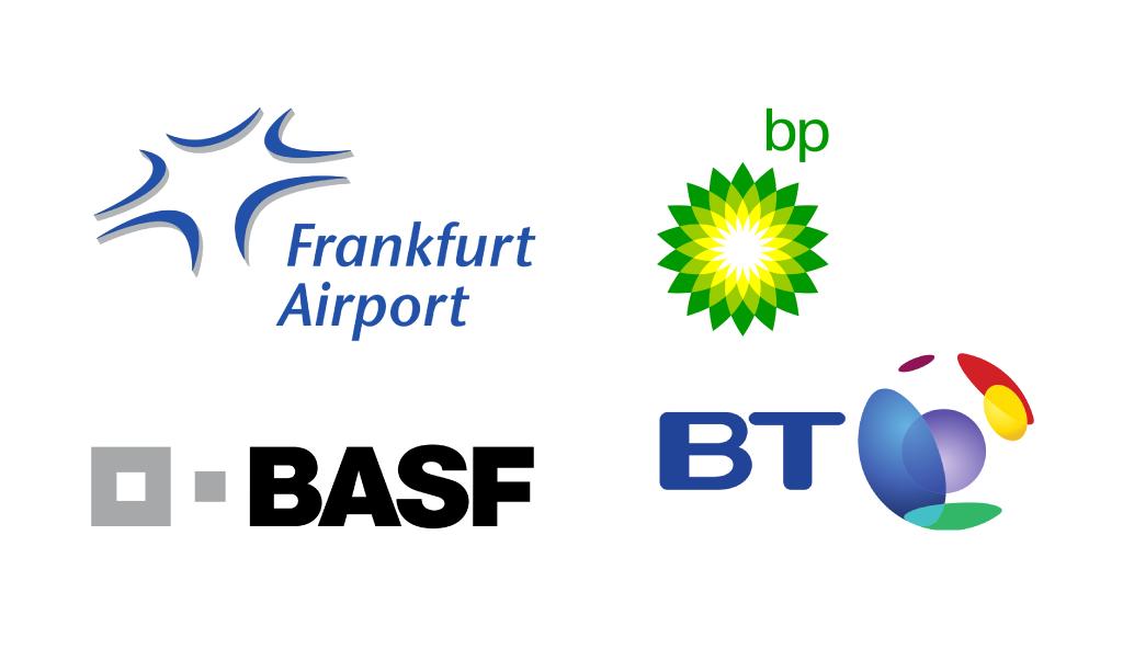 Marchi Loghi famosi icone/simboli PhoenixVisual Graphic Design Vicenza Basf Frankfurt Airport bp bt